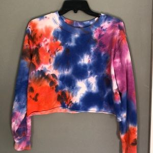 Wild Fable, S, cropped tiedye sweater